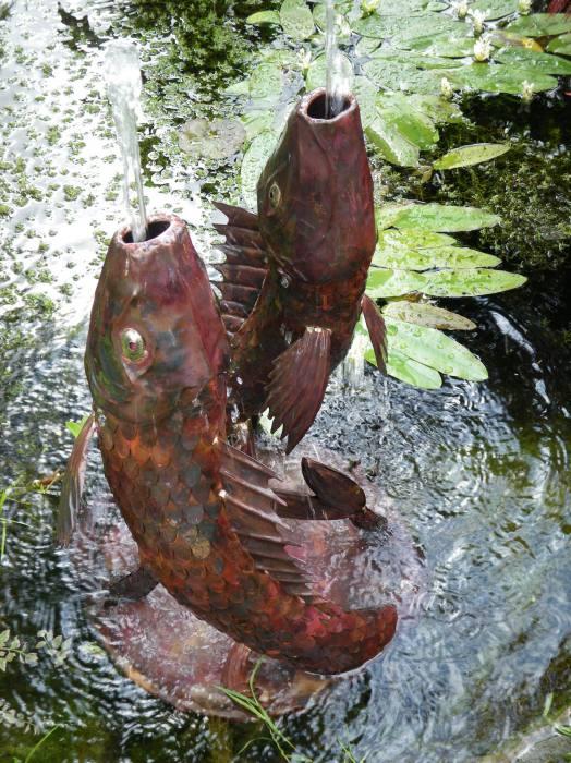 Fish fountain for Statue carpe koi