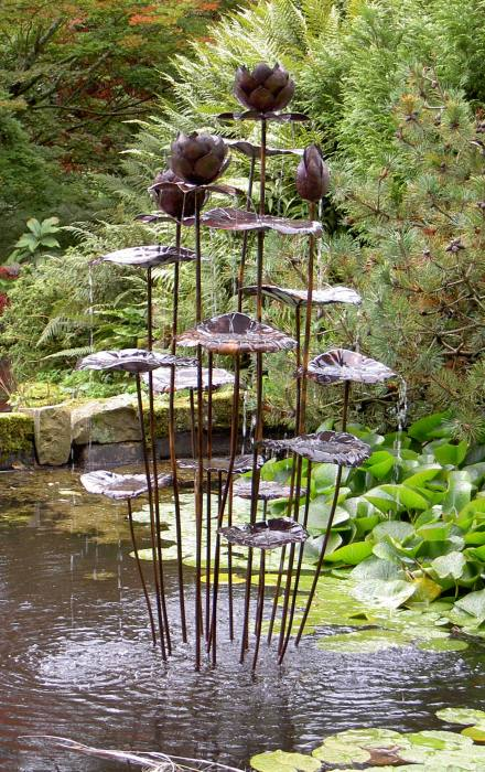 Tall Lotus Fountain